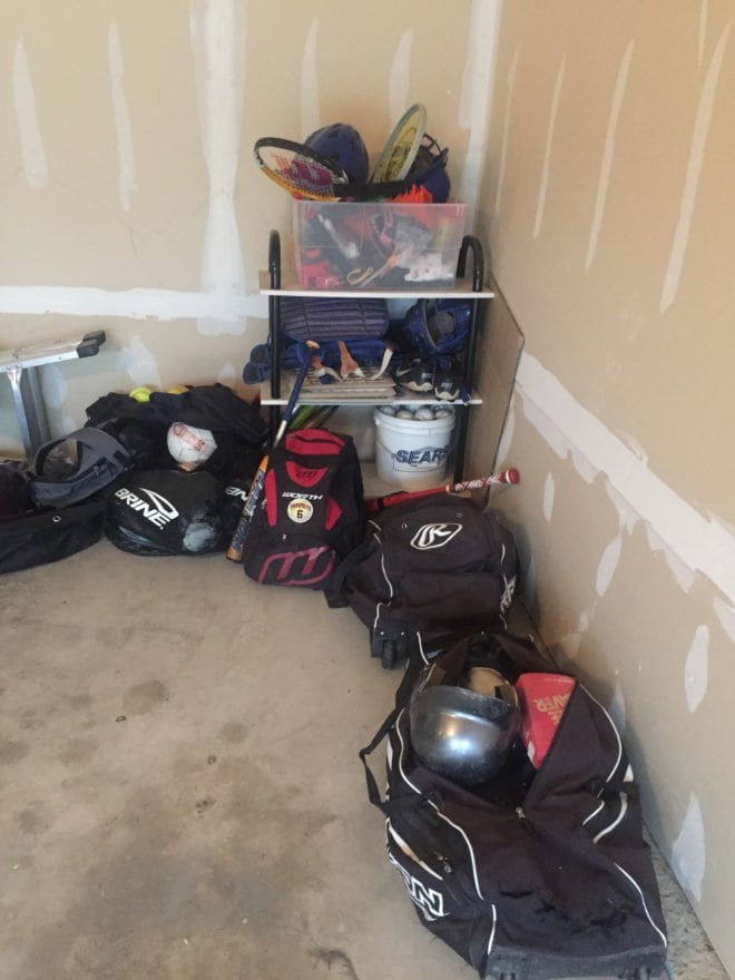 Sports Garage Mess