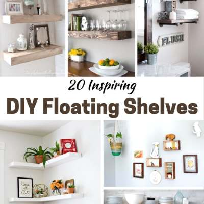 20 Inspiring DIY Floating Shelves (the rustic options are my favorites!)