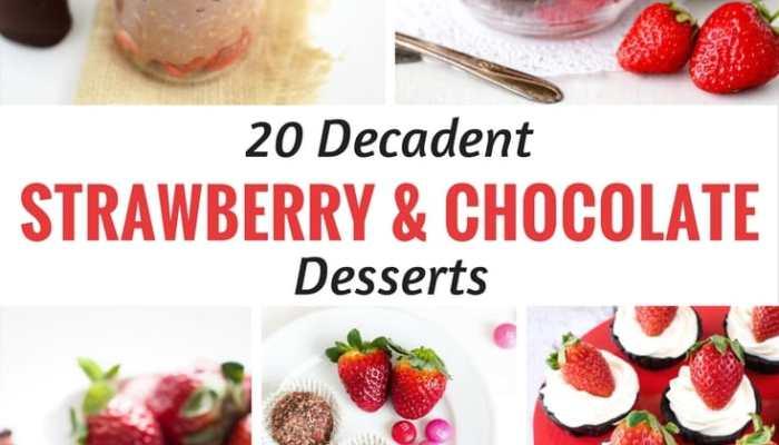 20 Decadent Strawberry and Chocolate Desserts