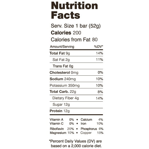 chocolate-sea-salt-nutritional-facts