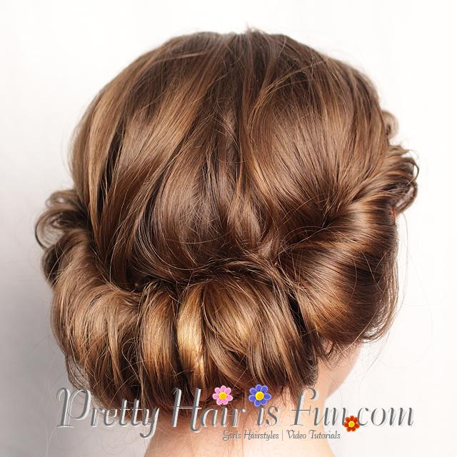 Pretty Hair Is Fun Rolled Updo Hair Tutorial Pretty