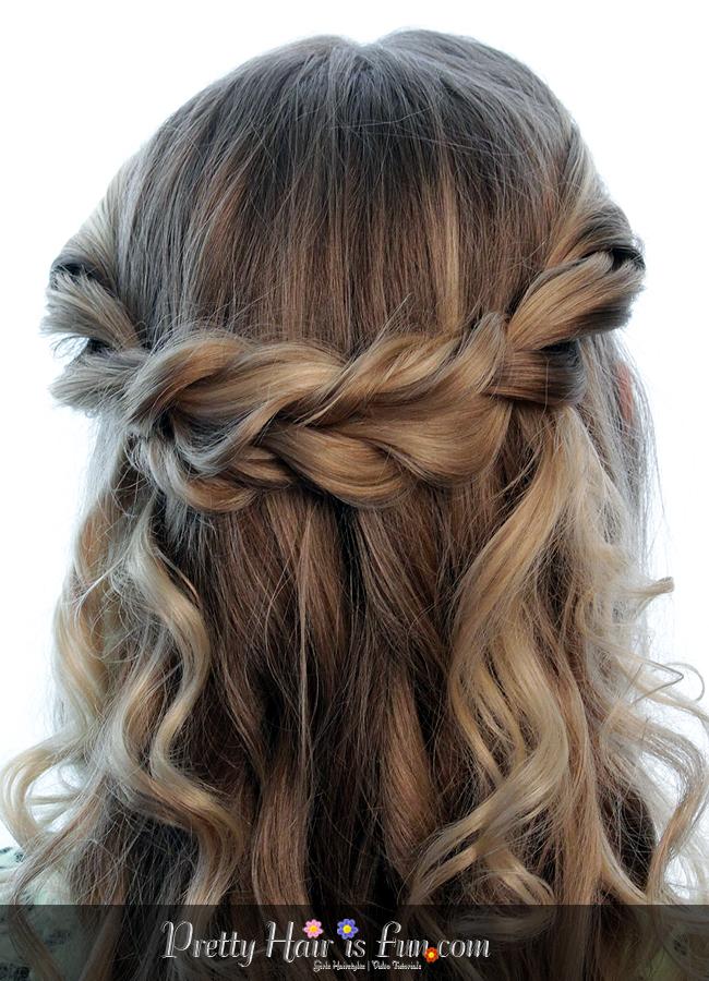 Pretty Hair Is Fun Easy Twisted Tieback Pretty Hair Is