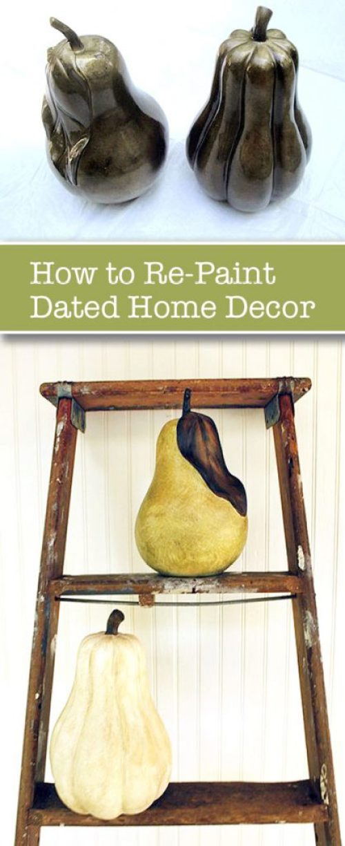 How to Re-Paint Dated Decor | Pretty Handy Girl