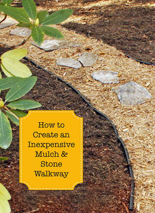 How to Create an Inexpensive Stone & Mulch Walkway