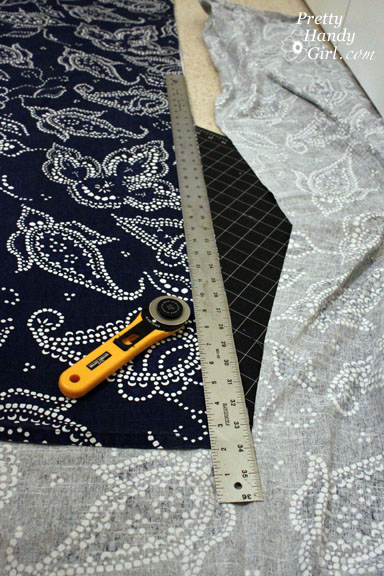 Sewing a Bench Cushion bottom panels