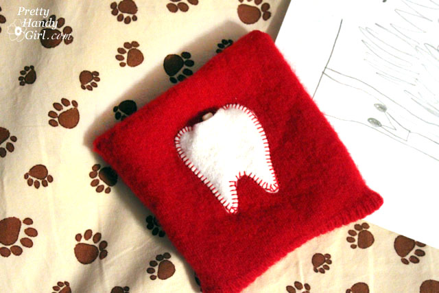 Easy Sewing Projects to help you learn to sew - 10 minute tooth fairy pouch