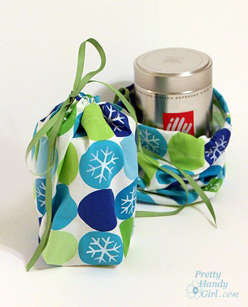 Easy Sewing projects to help you learn to sew - drawstring gift bag tutorial