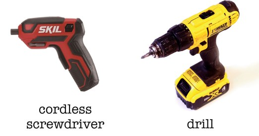 cordless screwdriver vs a drill