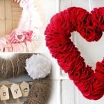 Unique Valentine's Day Wreaths