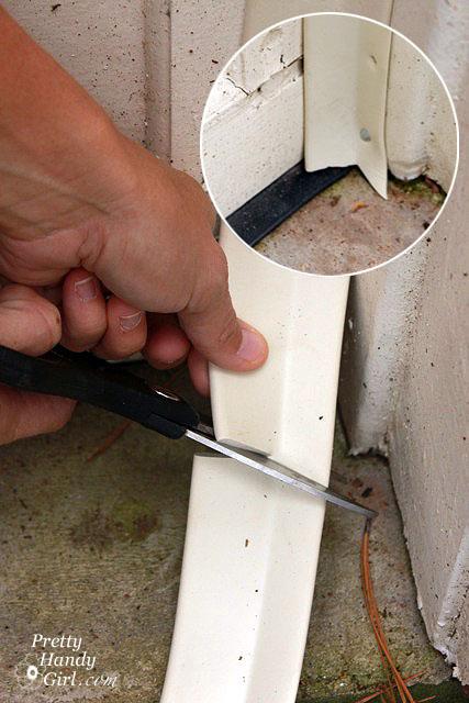 garage door weather stripping corners