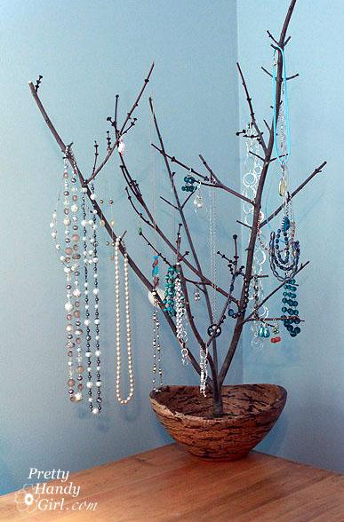 Sculptural Branch Jewelry Display Holder Pretty Handy Girl