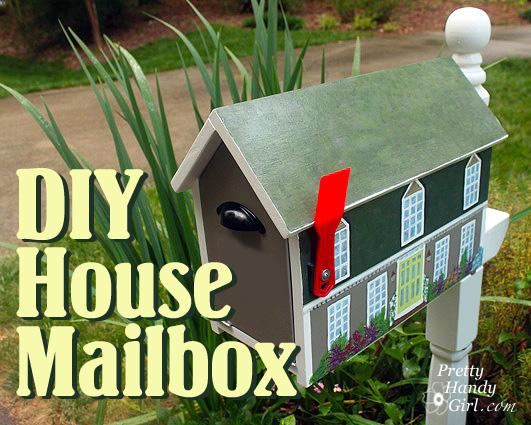 Make a house shaped mailbox a lowes creative idea pretty handy girl june solutioingenieria Images
