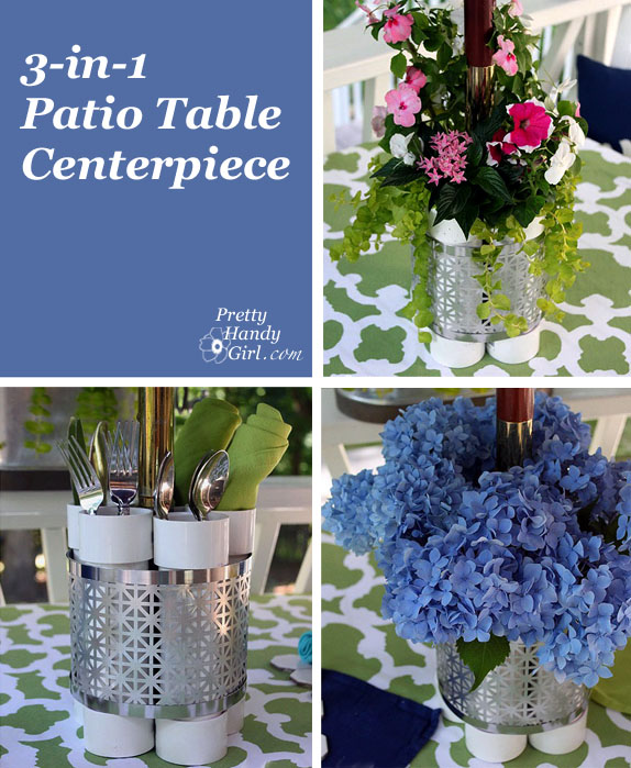 three in one patio table centerpiece vase and planter