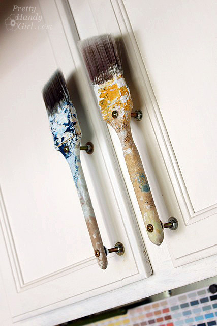 Old Paintbrush Cabinet Door Handles