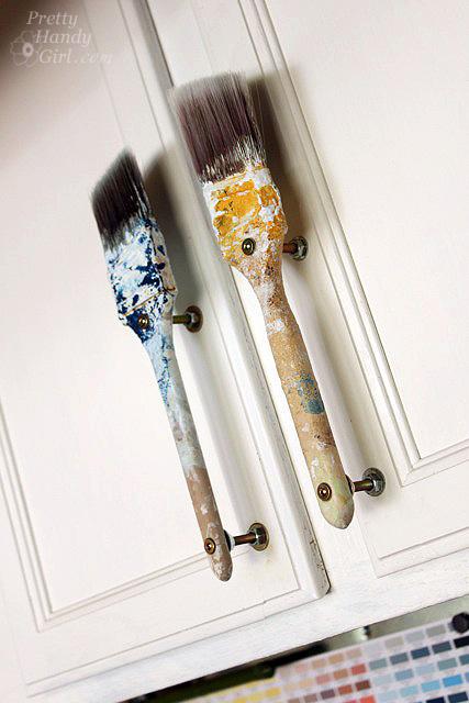 Old Paintbrush Cabinet Door Handles