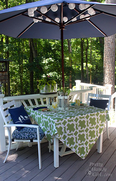 Dressing up a Patio Table