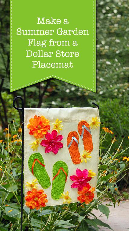 Make a Summer Garden Flag from a Dollar Store Placemat | Pretty Handy Girl