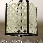 Circle Diamond Pattern Light Fixture – Updating a Brass Light Fixture