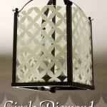 Circle Diamond Pattern Light Fixture – Updating a Brass Light Fixture