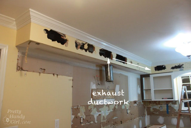 How to Remove a Soffit - Kitchen Renovation Update - Pretty ... Ideas For Updating Kitchen Soffits on ideas for old kitchen cabinets, ideas for updating cabinets, ideas for decorating above kitchen cabinets shelves,