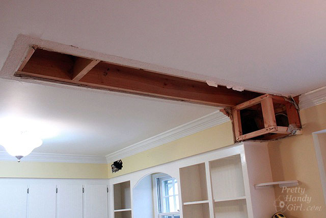 How to Remove a Soffit - Kitchen Renovation Update - Pretty Handy Ideas For Header Above Kitchen Cabinets on space saver pantry cabinets, ideas for arranging furniture, ideas for above kitchen sink, ideas for above mantels, ideas to decorate your kitchen, ideas for above kitchen stoves, ideas for closets, ideas for decorating christmas mantels, ideas for displays above cabinets, ideas for small kitchens kitchen design, sponge saver for cabinets, ideas for old cabinets, ideas for above fireplace, ideas for above toilets, ideas for frig cabinet, ideas for christmas decor above cabinets, lacquer paint for cabinets, ideas for tops of cabinets, beautiful kitchens with white cabinets, ideas for shower stalls,