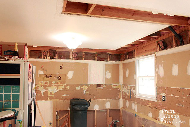 How To Remove A Soffit Kitchen Renovation Update Pretty Handy Girl