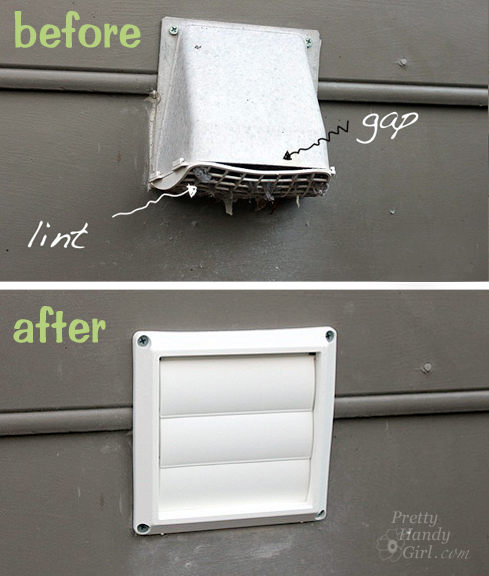 before after dryer vent