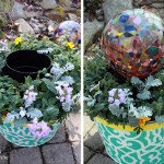 Outdoor Planter from an Ice Bucket #LowesCreator
