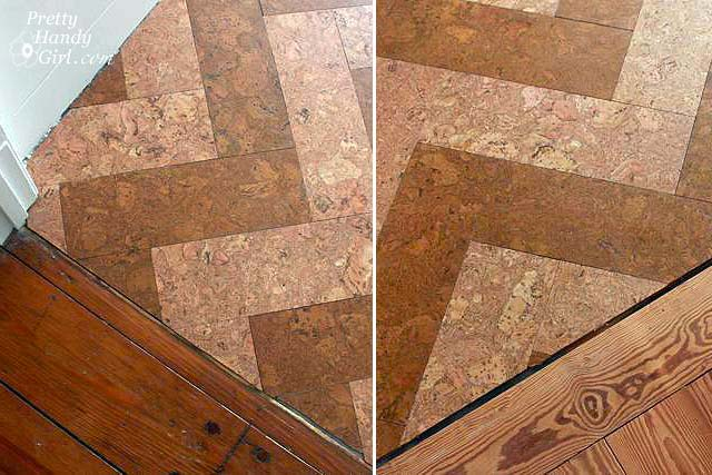Installing Cork Tile Flooring in the Kitchen - Pretty Handy Girl