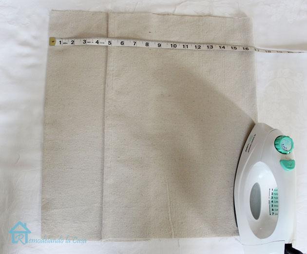envelope pillow second fold