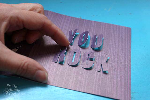 You Rock 3-D Card | Pretty Handy Girl