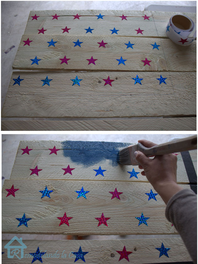 adding star stickers to sign