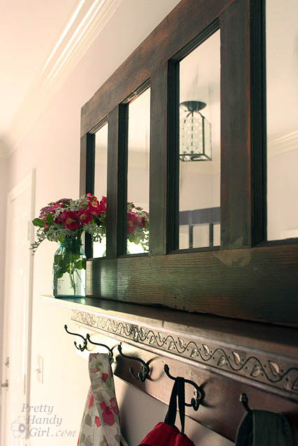 coat rack made from an old door