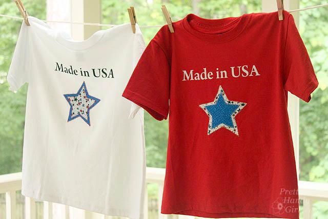made in usa star shirts