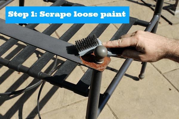 Step 1 Scrape Loose Paint