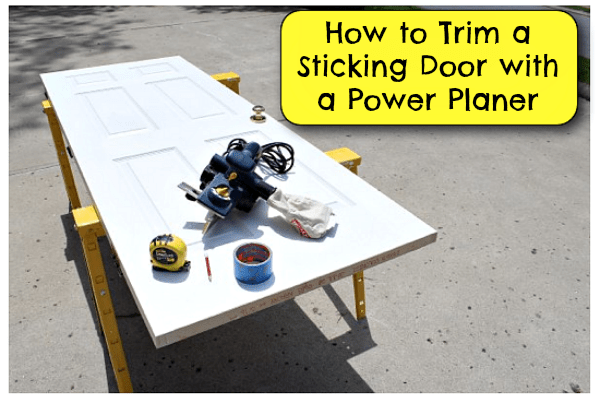 Trim a door with a power planer  sc 1 st  Pretty Handy Girl & How to Trim a Sticking Door with a Power Planer - Pretty Handy Girl