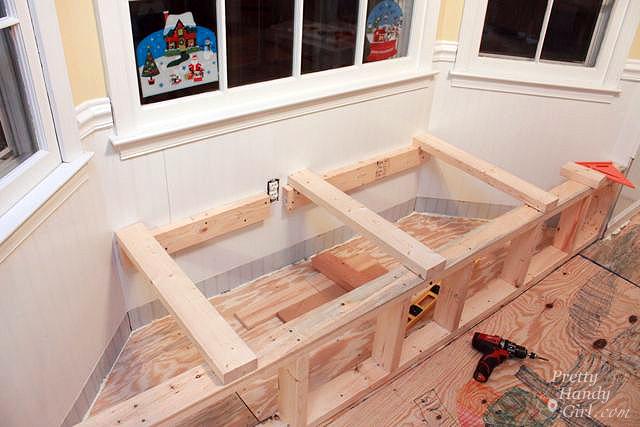 Building A Window Seat With Storage In A Bay Window Pretty Handy Girl