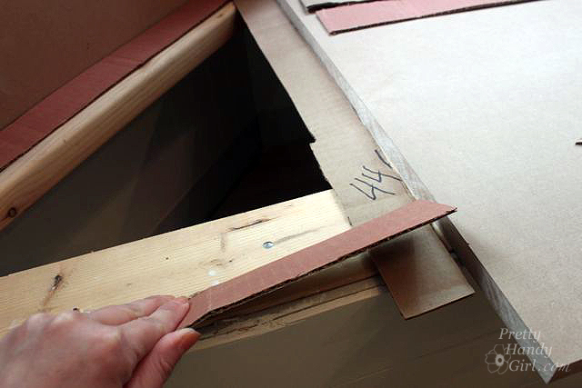 lay out cardboard strips