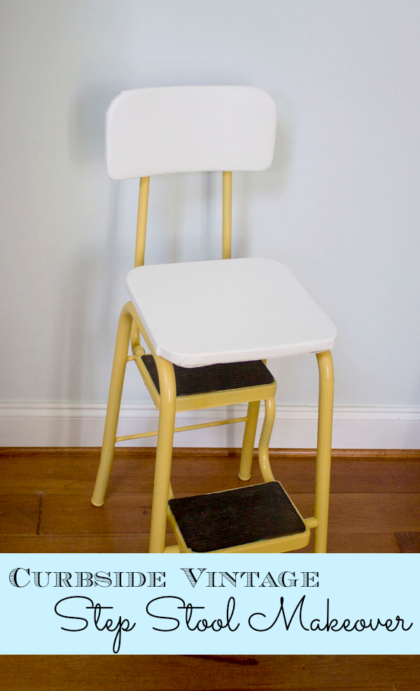Awe Inspiring Curbside Vintage Step Stool Makeover Pretty Handy Girl Machost Co Dining Chair Design Ideas Machostcouk