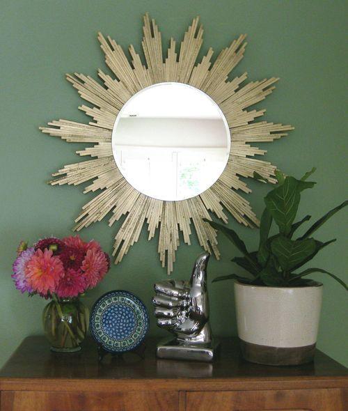 DIY Sunburst Mirror | 30 Amazing DIY Mirrors