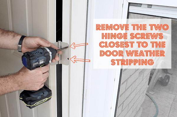 Removing Hinge Screws
