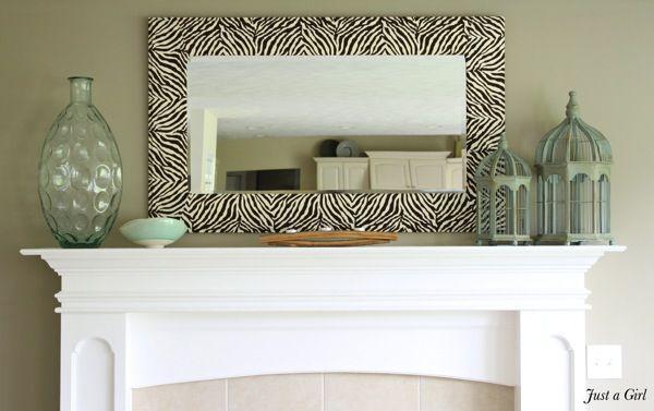 Zebra Mirror | 30 Amazing DIY Mirrors
