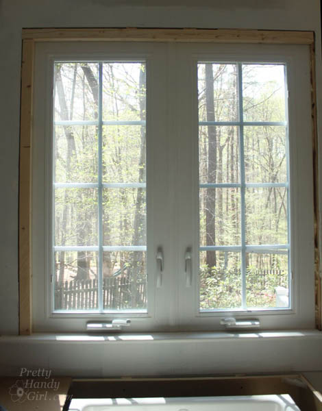 How To Install Trim And Casing Moulding On A Casement Window Pretty Handy Girl
