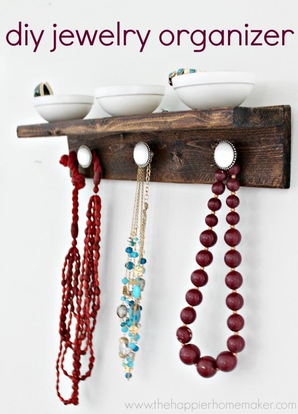 DIY jewelry organizer | Pretty Handy Girl