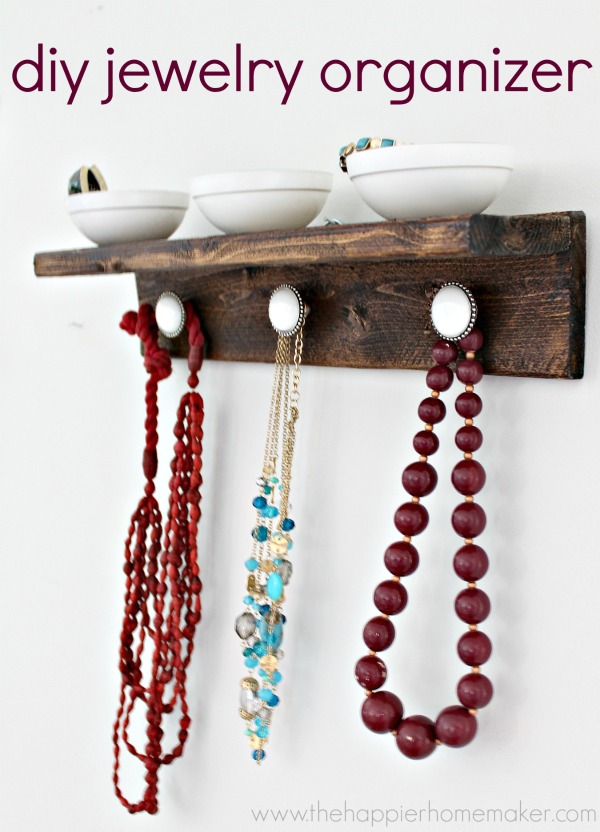 DIY jewelry organizer | Pretty Handy Girl