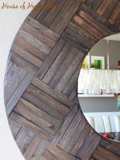 Wood Shim Mirror | 30 Amazing DIY Mirrors
