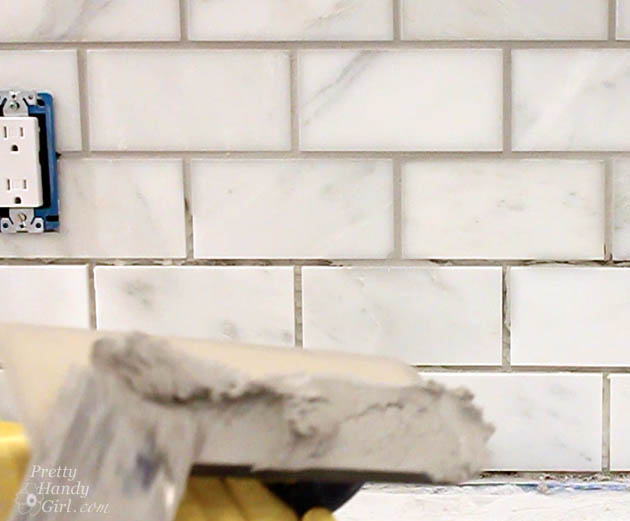 How To Tile A Backsplash Part 2 Grouting And Sealing A Backsplash Pretty Handy Girl