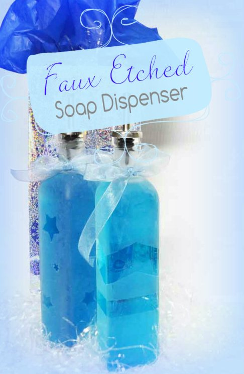 Faux Etched Glass Soap Dispenser Gift
