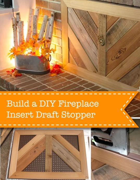 build a diy fireplace insert draft stopper