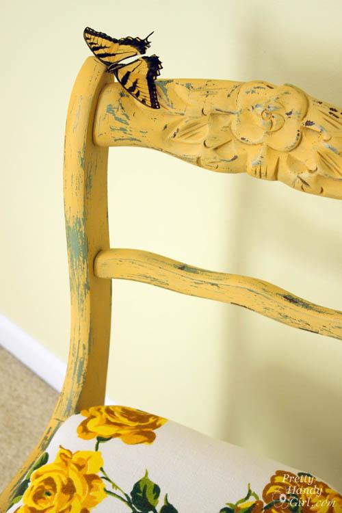 Mustard Seed Yellow Chair | Pretty Handy Girl